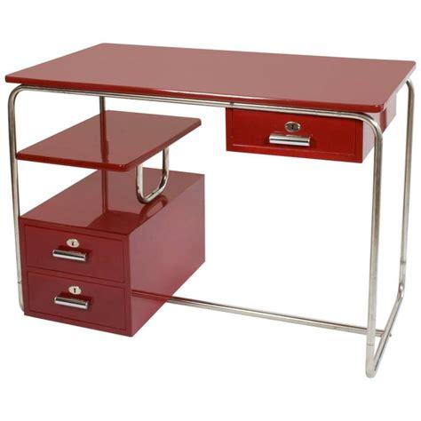 1940s bauhaus thonet design steel desk purple at