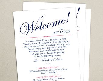 Welcome Card Template Hotel by Wedding Welcome Card Etsy