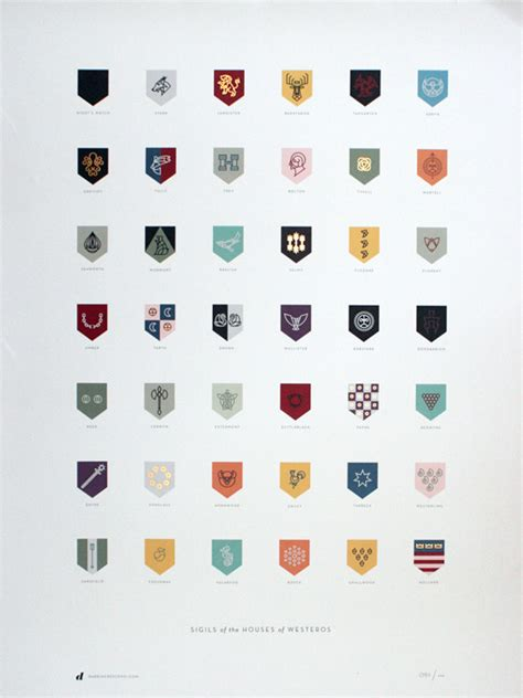 game of thrones house sigils sigils of the houses of westeros design crush