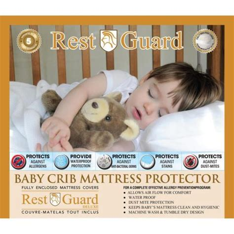 crib mattress clearance rest guard crib mattress protector h01805 clearance