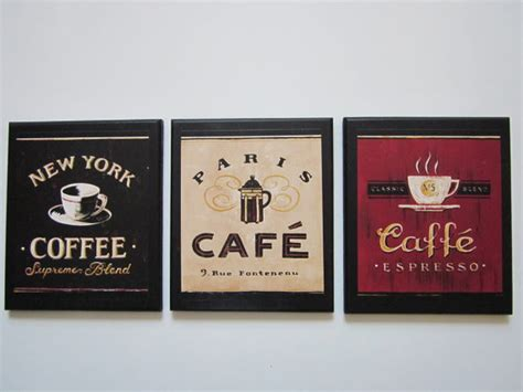 Coffee Signs Kitchen Decor by Coffee 3 Wall Signs Country Black Kitchen By