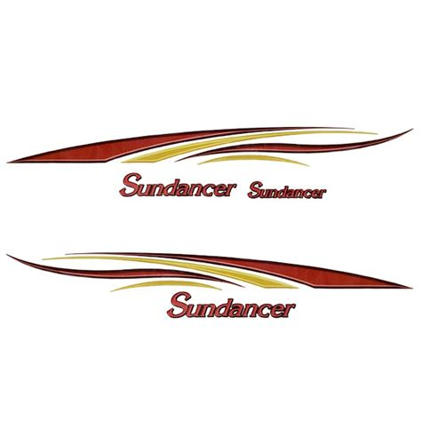 boat manufacturer decals bentley oem 05 custom sundancer yellow gold black pontoon