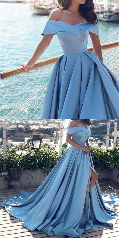 incredible wedding gown ideas  blue prom dresses