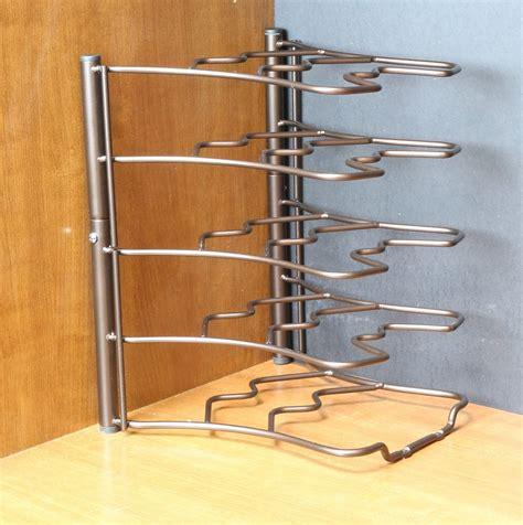pan organizer for cabinet counter cabinet pan organizer shelf rack kitchen