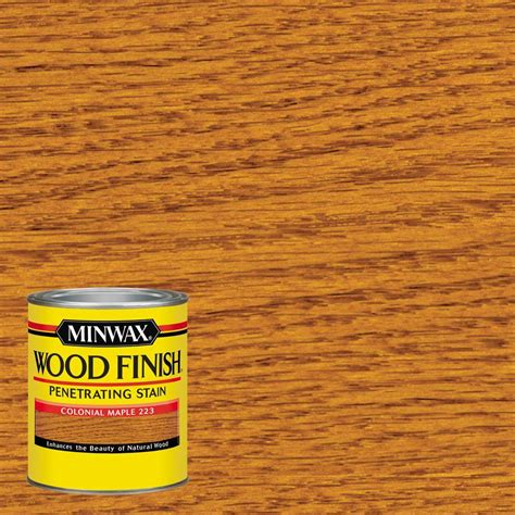 minwax 1 qt wood finish colonial maple based interior