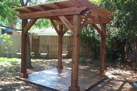 pergola for small backyard backyard pergola traditional patio houston by