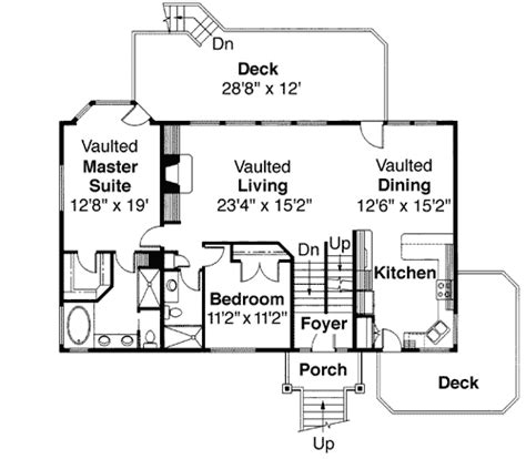 tri level home floor plans tri level house plan with loft overlook 72197da