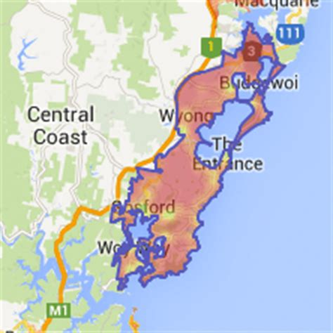 central coast australia map most walkable cities in the united states canada and
