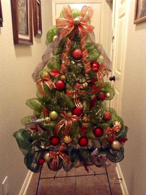 deco mesh christmas tree wreath holiday bows bulbs decoration