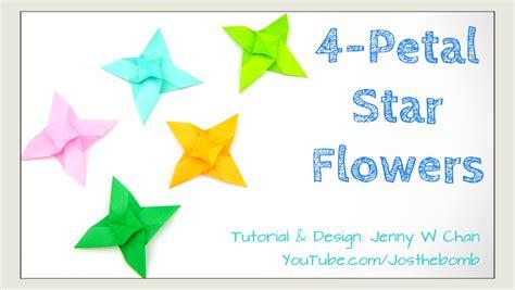 origami 4 petal flowers 187 origamitree