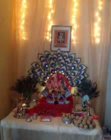 Home Ganpati Decoration by Ganpati Decoration Ideas At Home Pooja Room Decoration