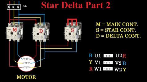 star delta motor starter wiring diagram  images