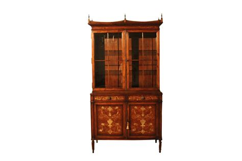 small georgian inlaid bookcase or china cabinet