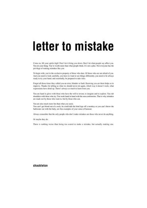 Small Apology Letter To Shackleton Ad Quot Letter To Mistake Quot Print Ad By Shackleton Spain