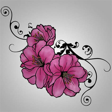 sakura tattoo design requiem designs