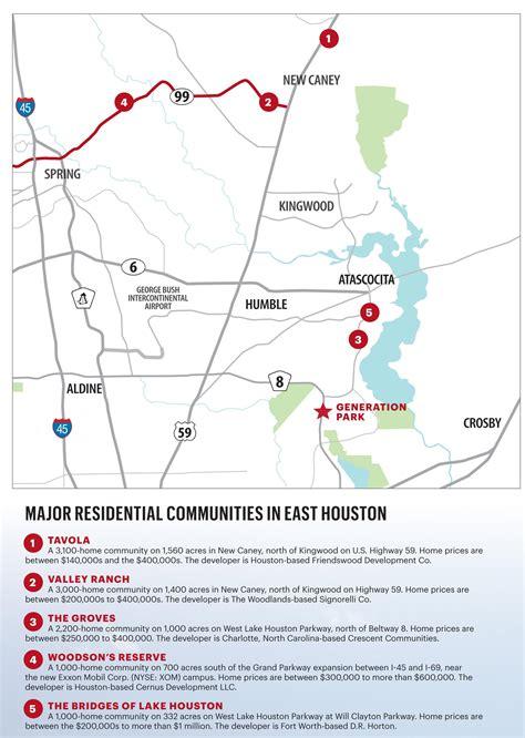 houston economic map houston residential real estate development east
