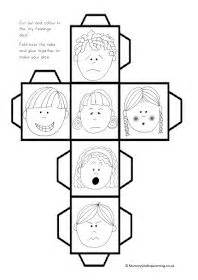 printable feelings dice all about me theme for preschoolers themes for toddlers
