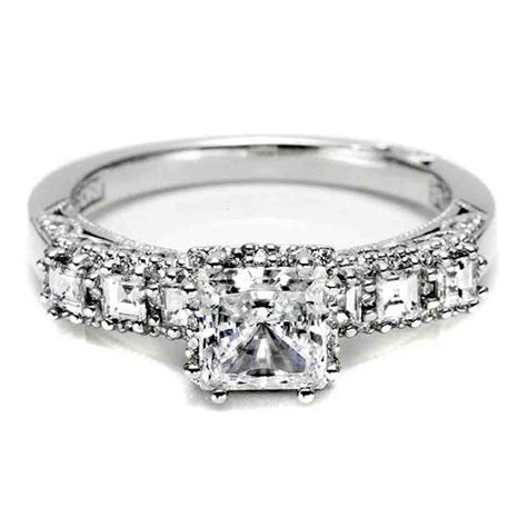 square solitaire engagement rings wedding and bridal