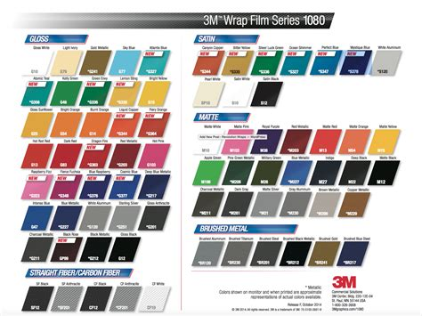 3m 1080 colors 3m1080 color change vinyl wrap 18 new colors