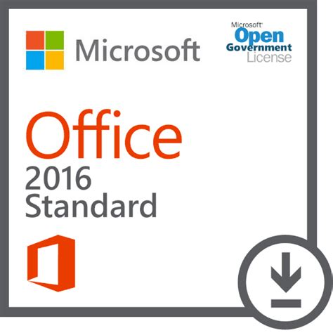 Microsoft Office Standard by Microsoft Office Standard 2016 Open License Government