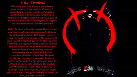 V For Vendetta Character Essay by V For Vendetta V Introduces Himself Fandub