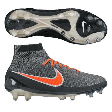 magista obra fg soccer cleats black white grey