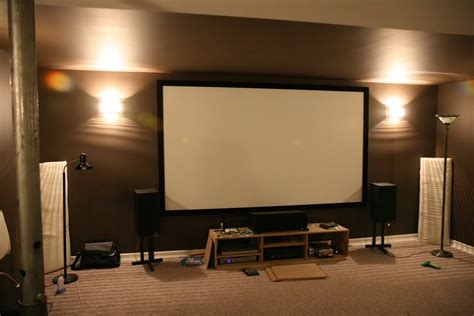 diy entertainment unit for projector screen