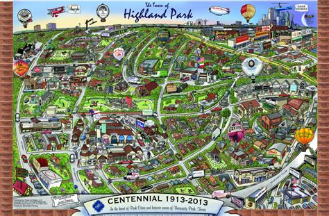 map of highland park texas map of the town of highland park tx by richard e dominguez on deviantart