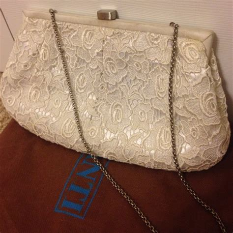 Chanel Kate Bosworth And Chanel Clutch Evening Bag by 82 Handbags White Eyelet Evening Clutch