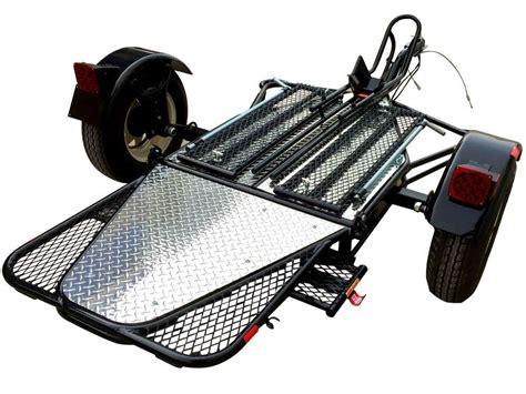 motorcycle trailer new folding single rail motorcycle trailer used for harley honda gold wing ebay