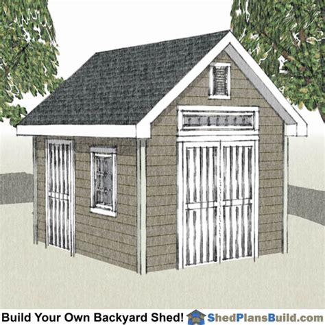 garden shed plan 10x12 shed plans