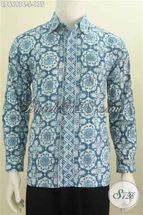 desain baju batik lengan panjang pria produk kemeja batik pria lengan panjang desain terbaru