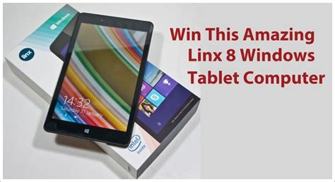 Microsoft Laptop Giveaway - red ferret giveaway win this awesome linx 8 windows tablet computer giveaway