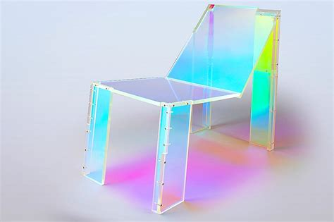 french house music dichoric acrylic chair pays homage to 90s french house