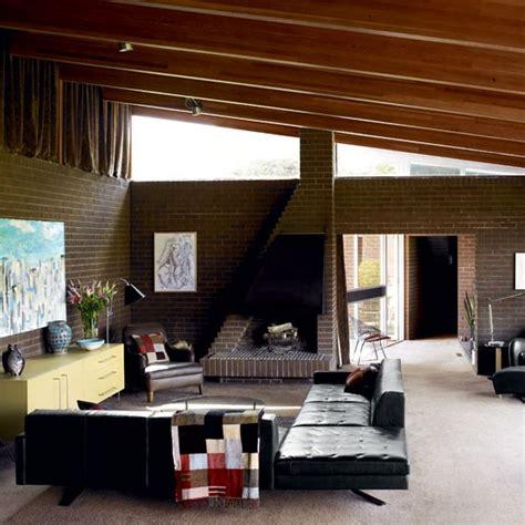 modern retro home design living room 1970s retro bungalow house tour