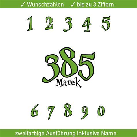 Motorrad Aufkleber Auto by Motorrad Startnummer Zweifarbig Mit Namen Ziffer Zahl