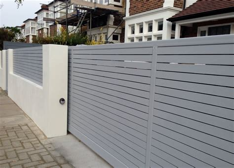 modern wall fence design front boundary wall screen automated electronic gate