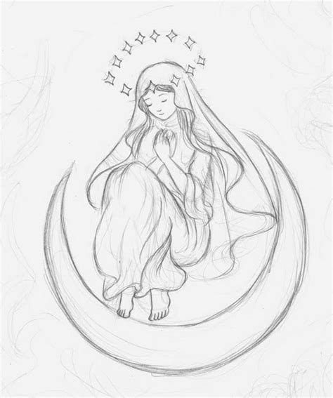 free coloring pages of blessed mother