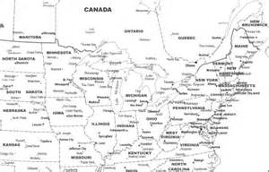 united states map black white with cities to your