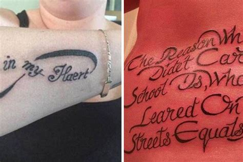 tattoo fails terrible tattoos with mistakes revealed worst tattoo fails brits show off hilariously bad inkings