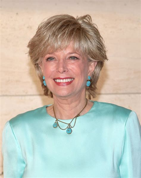 leslie stahl hair lesley stahl in 2009 new york city ballet spring gala zimbio