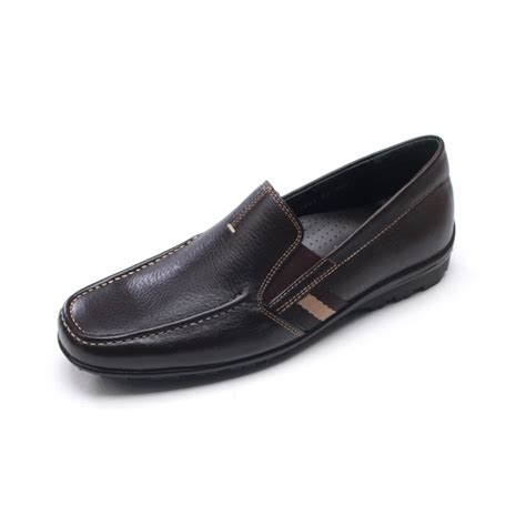 u loafers s square toe side band brown cow leather loafers