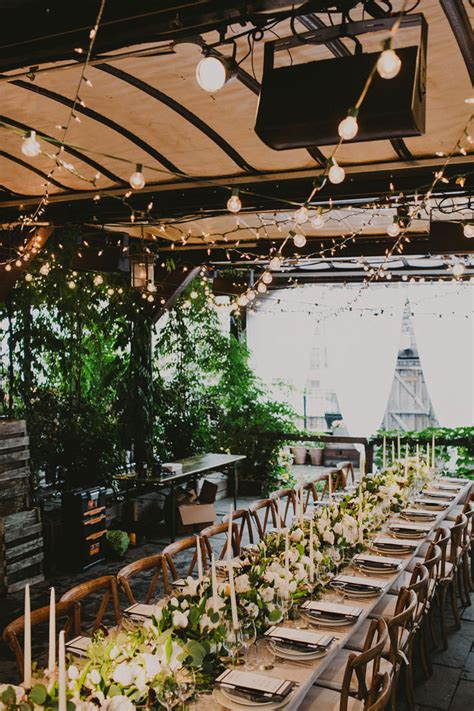 Green Table Nyc by A Rooftop Dinner At Gallow Green Entertaining Idea
