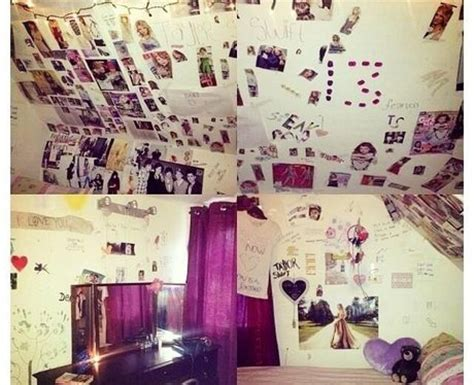 taylor swifts bedroom one proud taylor swift fans shows off her bedroom shrine to the us pop star best