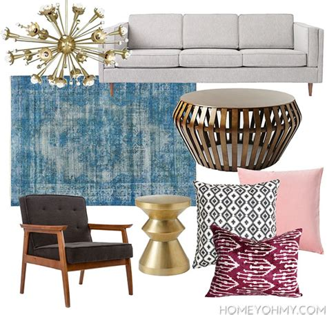 modern glam interior design mid century glamour living mid century modern glam living room inspiration homey oh
