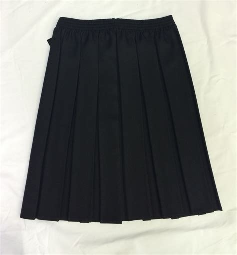 black pleated skirt jk clothing