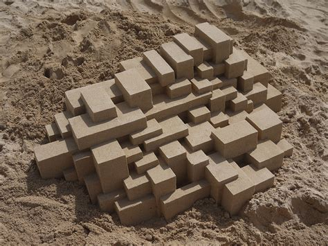 calvin seibert new perfectly shaped geometric sandcastles by calvin