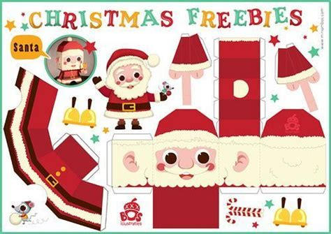 cute printable christmas decorations free pinterest make a santa reindeer elf christmas tree