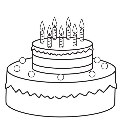 Coloring Page Birthday Cake by Birthday Cakes Coloring Pages Az Coloring Pages