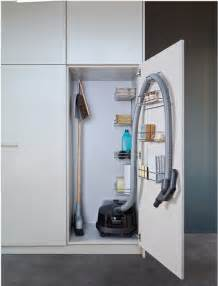 vacuum cleaner storage cabinet closet and laundry room